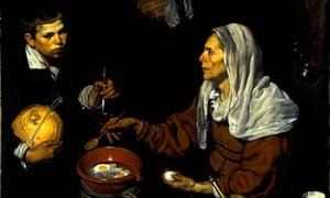 Conspicuous consumption … Diego Velázquez's An Old Woman Cooking Eggs (1618).