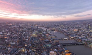 Panoramic view from the Shard
