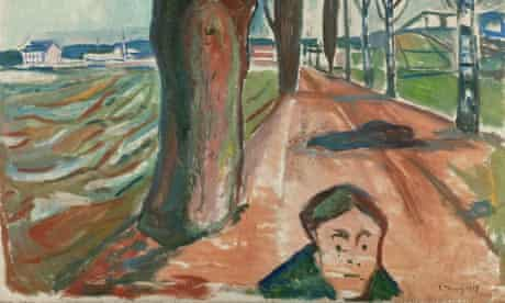 A detail from Murder on the Road, 1919