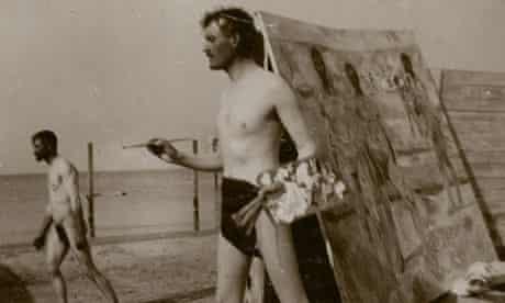 Edvard Munch's self-portrait on Warnemünde beach, 1907