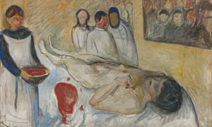 Munch - Self Portrait on the Operating Table