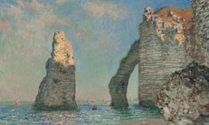Monet's The Cliffs at Etretat, in From Paris: A Taste for Impressionism