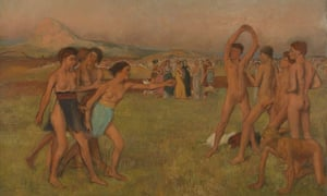 Degas' Young Spartans Exercising