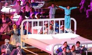 Olympic Opening Ceremony nurses