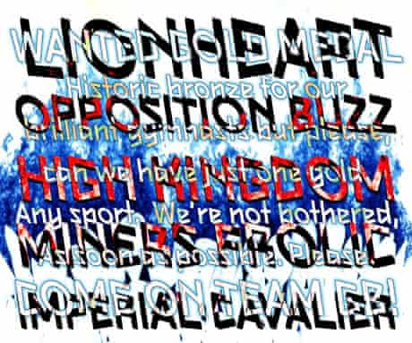 Mark Titchner picks up onthe anxious mood of the early days