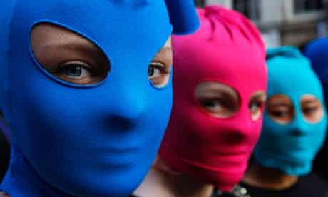 Amnesty Pussy Riot protest, Edinburgh