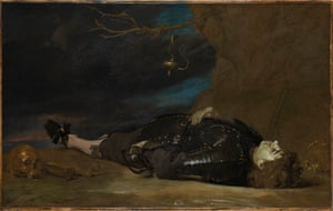 A Dead Soldier, 17th century, at the National Gallery, London