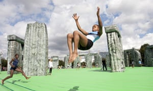 Jeremy Deller's Sacrilege, Inflatable Stonehenge, Greenwich Peninsula, London, Britain - 21 Jul 2012