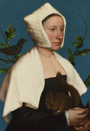 Hans Holbein the Younger's A Lady with a Squirrel and a Starling