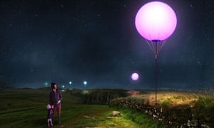 Olden globes … visualisation of Connecting Light, an installation along Hadrian's Wall