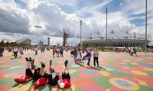 The Olympic Park in Stratford, East London