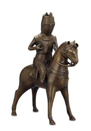 The knight aquamanile (about 1275-1300) found in the river Tyne