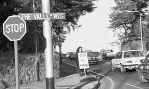 Gille de Vlieg, Harriet Gavshon in Jan Smuts Ave, Johannesburg