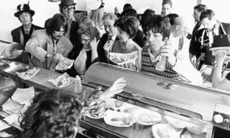The Beatles get some food in Magical Mystery Tour
