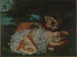 Gustave Courbet's Young Ladies on the Bank of the Seine