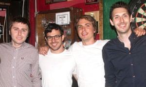 The cast of The Inbetweeners in Los Angeles