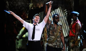 Andrew Rannells and the cast of The Book of Mormon at the 65th Annual Tony awards in New York