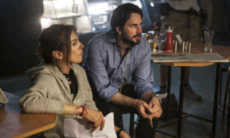 Kathryn Bigelow and Mark Boal on the set of Zero Dark Thirty (2012)