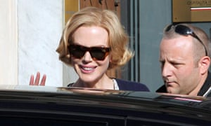Nicole Kidman arriving at the Royal Palace of Genoa for Grace of Monaco