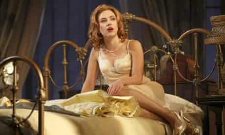 Scarlett Johansson as Cat On a Hot Tin Roof at the Richard Rodgers theatre