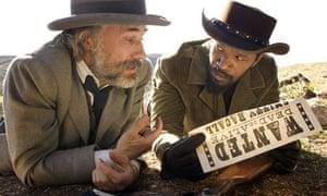 Christoph Waltz and Jamie Foxx in Django Unchained (2012)