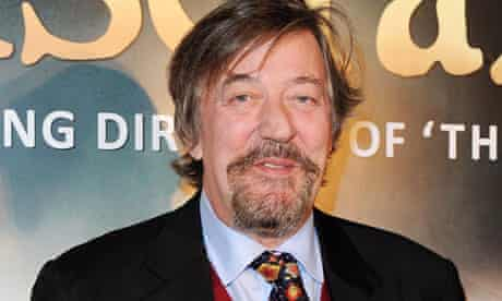 Stephen Fry at the world premiere of Les Miserables in London
