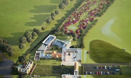 Hauser and Wirth Somerset artists impression, aerial view