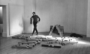 Andre installing a work in 1964