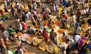 A Kolkata flower market in 2008