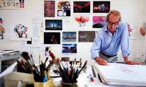 Gerald Scarfe in his studio in London.