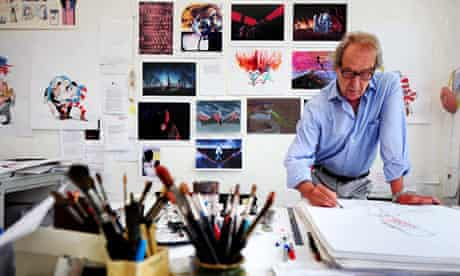 Gerald Scarfe in his studio in London.