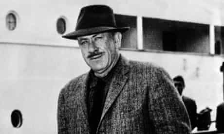 Literature. Naples, Italy. 8th April 1957. American author and writer John Steinbeck.