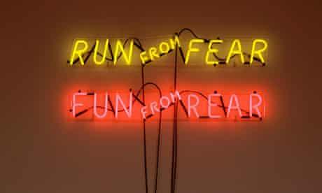 Hauser & Wirth: Bruce Nauman, Run from Fear, Fun from Rear, 1972