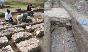Excavations of 2,000-year-old Roman theatre in Faversham
