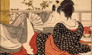 Kitagawa Utamaro, Lovers in the upstairs room of a teahouse, c. 1788