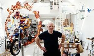 Malcolm Morley in his Studio