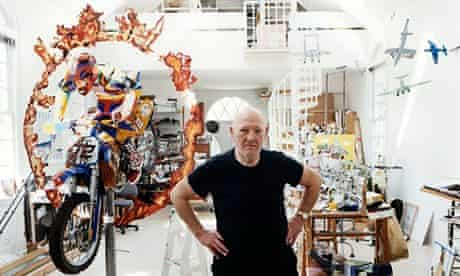 Malcolm Morley in his Studio