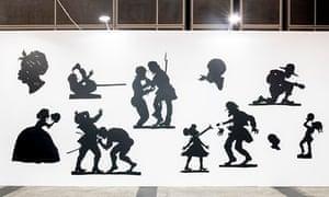 Kara Walker paper cut silhouettes at Camden Arts Centre