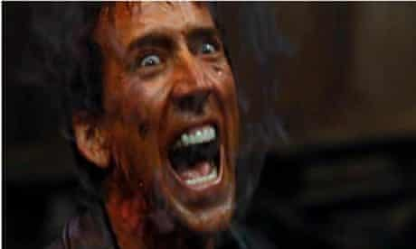 Nicolas Cage screaming in Ghost Rider