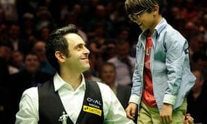 Ronnie O'Sullivan with his son Ronnie
