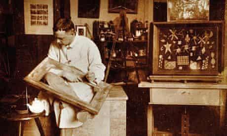 Paul Klee in his Bauhaus studio