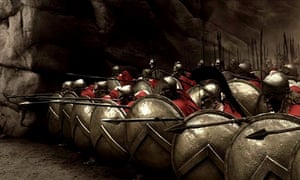 The Battle of Thermopylae in the 2007 film 300