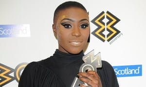 Laura Mvula at the MOBO Awards in Glasgow