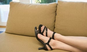 Heels - woman on sofa