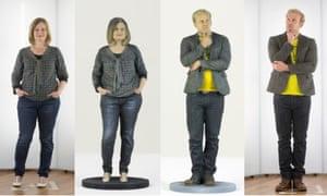 3D models of Lucy Mangan and Stuart Jeffries