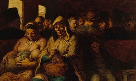 The Third Class Railway Carriage, 1862-64, by Honoré Daumier