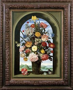 Vase with Flowers in a Window (1618) by Ambrosius Bosschaert the Elder