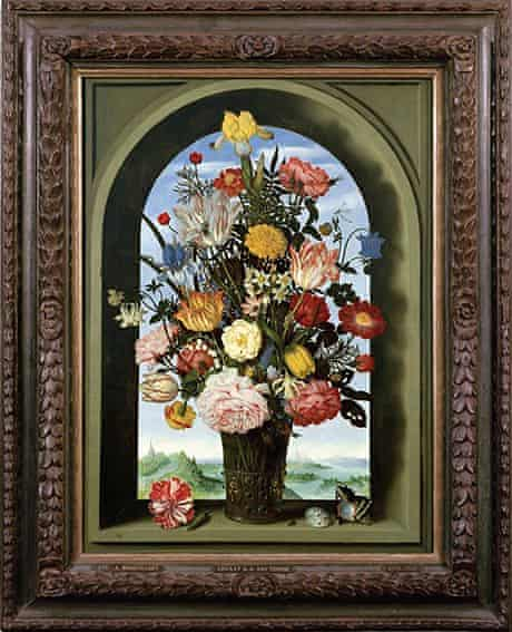 Vase with Flowers in a Window (1618) by Ambrosius Bosschaert the Elder