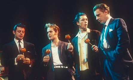 Andy Serkis, Tom Hollander, Aidan Gillen and David Westhead in the 1995 production of Mojo
