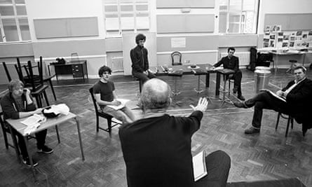 Rehearsals for the new version of Mojo